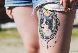 71 cat tattoos on thigh