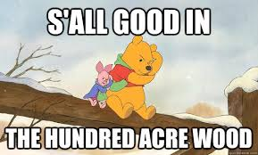 Winnie The Pooh Meme - s all good in the hundred acre wood winnie the pooh bear grylls