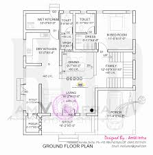 flat roof home with floor plan kerala home design and floor plans ground floor plan