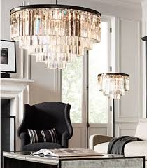 Odeon Crystal Chandelier 1920s Odeon Glass Fringe Floor Lamp With Matching Celing