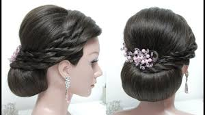 beautiful hairstyles with puff easy wedding hairstyle bun updo