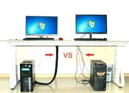 Computer Desk Cord Management Computer Desk With Wire Management Ideas Greenvirals Style
