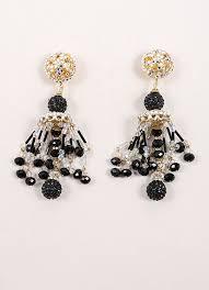 rhinestone chandelier earrings vrba black gold rhinestone chandelier earrings luxury