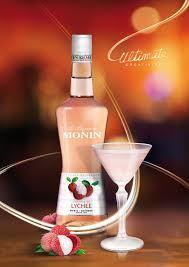 martini litchi monin lychee liqueur monin com