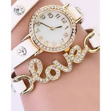 bracelet chain watches images White love bracelet leather watch jpeg