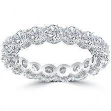 eternity wedding 5 25 carat diamond pave eternity wedding band anniversary