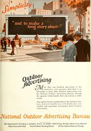 advertising bureau national outdoor advertising bureau 1926 ad simplicity to a
