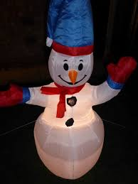 christmas decoration 120cm large inflatable snowman with led