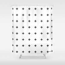 White On White Shower Curtain Black White And Graphic Design Shower Curtains Society6
