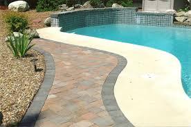 Concrete Patio With Pavers Cost Of Paver Patio Vs Concrete Home Outdoor Decoration
