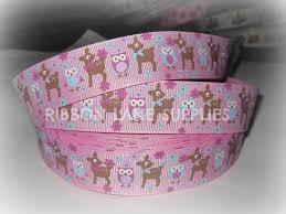 ribbon by the yard ribbon by the yard 1 lavender grosgrain owl deer ribbon