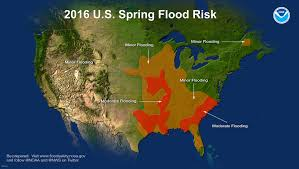 Rainfall Map Usa Spring Outlook Moderate Flood Risk For Drenched Louisiana East