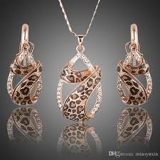 swarovski crystal necklace earrings images 2018 2017 wholesale azora rose gold plated swarovski crystals jpg