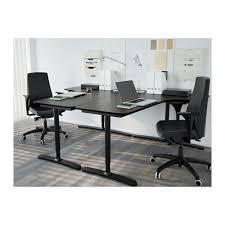 Ikea Galant Corner Desk Right Bekant Corner Desk Right Black Brown Black 160x110 Cm Ikea