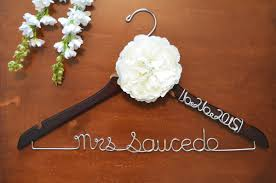personalized hanger with wire date on arm twisted hangers