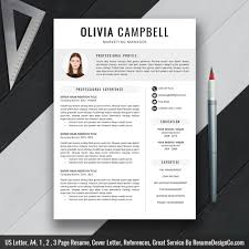 Resume Template On Word Modern Resume Template Cv Template Professional And Creative