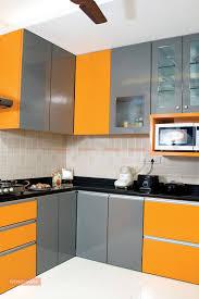 orange kitchen design orange metallic glass kitchen design photos