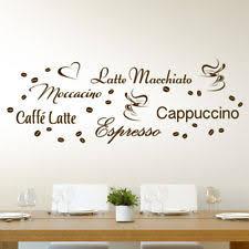 küche wandtattoo deko wandtattoos wandbilder mit kaffee für die küche ebay