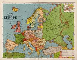 Historical Maps Of Europe by Bacon U0027s Standard Map Of Europe U2013 Historical Maps Collection