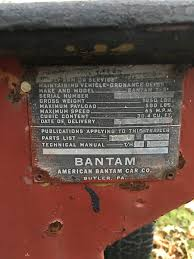 bantam jeep for sale 1945 bantam t 3 trailer for sale upstate ny 1000 or m416