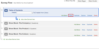 How To Do A Table Of Contents Table Of Contents Qualtrics Support