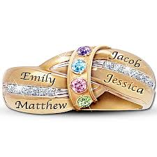 family birthstone rings family rings for 10 personalized rings will