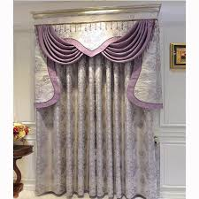 Floral Jacquard Curtains Beautiful Curtains Floral Jacquard Light Purple Polyester No Valance
