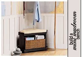 Corner Storage Bench Mini Mudroom Corner Storage Bench