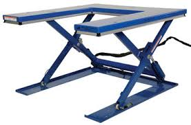 low profile u type electric lift table