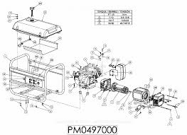 powermate formerly coleman pm0497000 parts diagram for generator parts