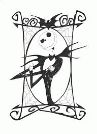 free nightmare before christmas coloring pages printable kids