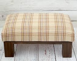 ottoman wooden ottoman footstool bird fabric bird home