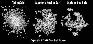 ratio kosher salt to table salt the science of salt