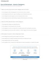 What Is An Interior Designer by Quiz U0026 Worksheet Interior Designers Study Com