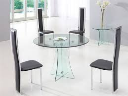 Round Glass Table And Chairs Round Glass Dining Table Set For 4 Pertaining To Your Home