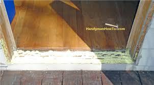 Laminate Flooring Under Door Frame How To Replace An Exterior Door Part 3