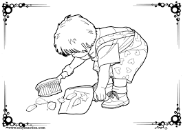 helpful child coloring page crayon action coloring pages