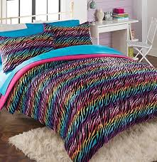 Teal And Purple Comforter Sets Comforter Sets Rainbow Zebra Bedding With Shams Designer Home