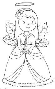 beautiful angel and candle christmas coloring pages for kids fs