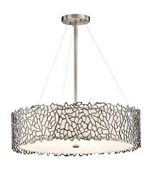 Chandelier Pewter Kichler 43347clp Silver Coral 4 Light 22 Inch Classic Pewter