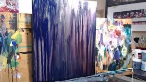 Make Purple Paint 18x24 Drip Technique On A Smaller Canvas Step 2 Youtube