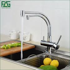 flg 100 copper chrome polished swivel drinking water faucet 3 way