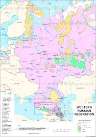 Russian Map Western Russia Ethnologue