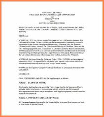 contractual agreement template contract for construction and