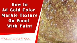 how to make gold color marble painting youtube