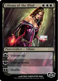 Magic Card Meme - liliana of the ipod nyxathid goes to town