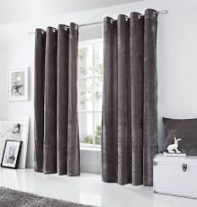 Curtain Pairs Velvet Eyelet Lined Curtains Ready Made Ringtop Curtain Pairs Ebay