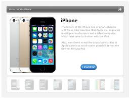elearning template apple iphone timeline