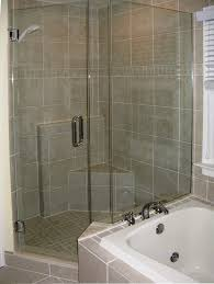 bathroom amazing glass shower stall kits plus seat and silver