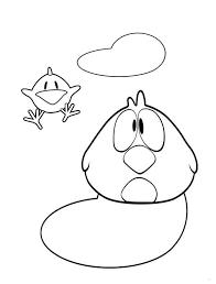 pocoyo friend sleepy bird coloring pocoyo friend sleepy bird